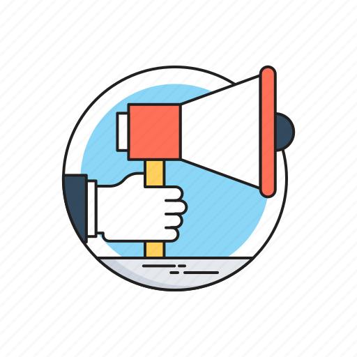 Advertisement, bullhorn, campaign, megaphone, publicity icon - Download on Iconfinder