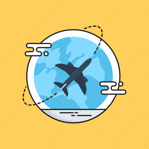 Airplane, business travel, globe, trip, world tour icon - Download on Iconfinder