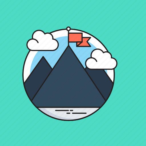 Achievement, flag, goal, mission, mountain icon - Download on Iconfinder