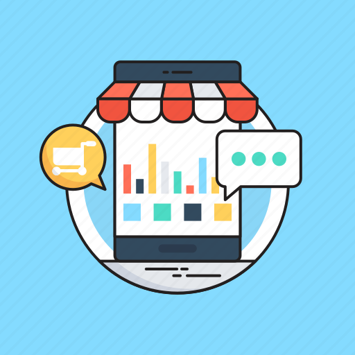 eshop, mobile, mobile commerce, shopping, shopping app icon