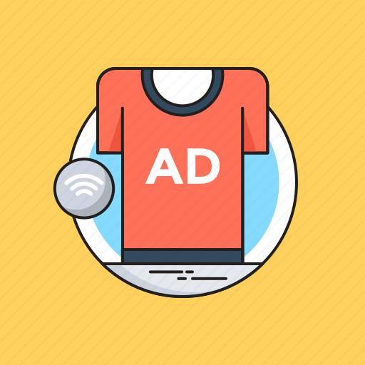 ad, advert, advertisement, shirt, sponsored ads icon