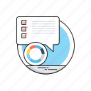 business, checklist, customer report, customer survey, pie graph icon