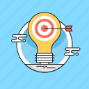 bulb, hit, idea, marketing, marketing strategy icon
