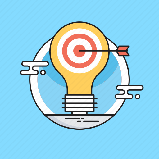 bulb, hit, idea, marketing, marketing strategy icon