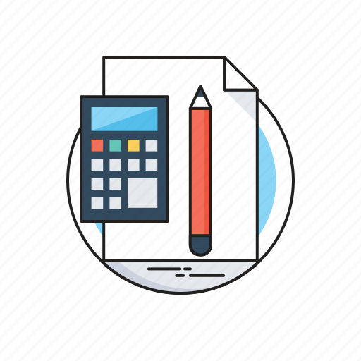 Accounting, accounts, calculation, calculator, pencil icon - Download on Iconfinder