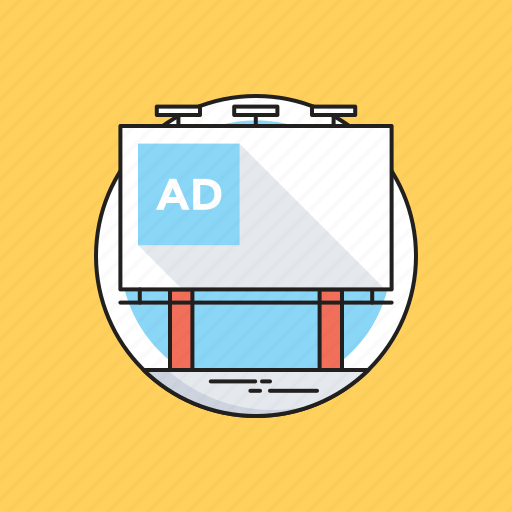 Ad board, advertisement, billboard, road advertising, road signage icon - Download on Iconfinder