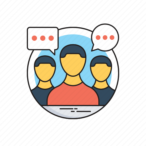Discussion, focus group, interview, meeting, teamwork icon - Download on Iconfinder