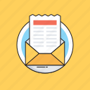 email, letter, message, newsletter, open mail icon
