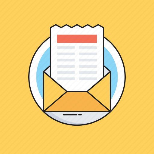 Email, letter, message, newsletter, open mail icon - Download on Iconfinder