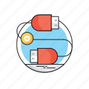 data cable, plug, plugin, technology, usb plugin icon