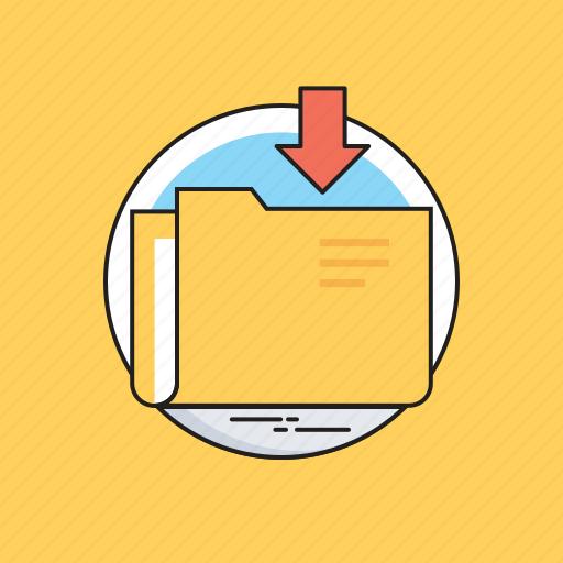 download, download folder, file storage, folder, storage icon