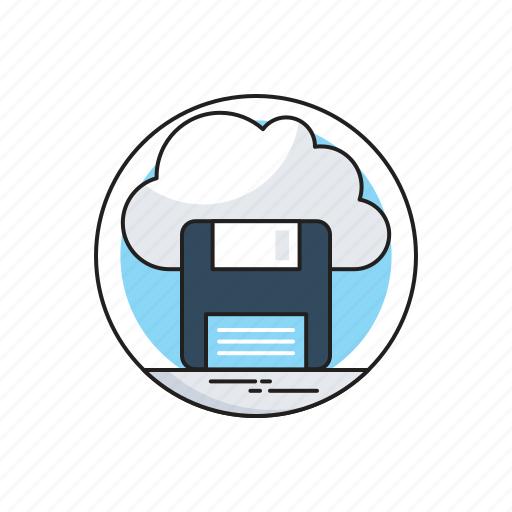 Cloud, cloud storage, drive, floppy, storage icon - Download on Iconfinder