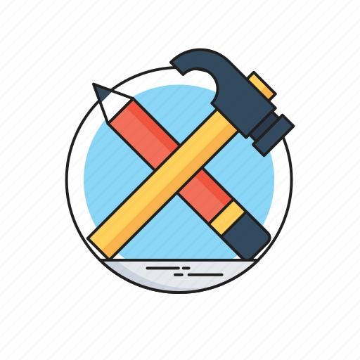 Design, design tool, hammer, pencil, woodwork icon - Download on Iconfinder