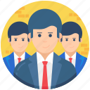 employees, group, leadership, office staff, team leader icon