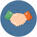 agreement, business handclasp, business handshake, contract, deal, meeting, partnership icon