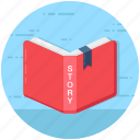 book reading, guidebook, handbook, manual, storybook icon