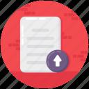 data storage, file submit, file upload, submit, upload document icon