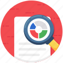 document analysis, document checking, file audit, file monitoring, file preview icon