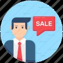 estate agent, sales agent, sales assistant, salesman, salesperson icon