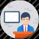 educator, instructor, professor, teacher, tutor icon