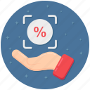 discount, interest, interest rate, loan interest, sale, savings icon