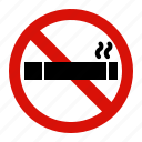 forbidden, no, prohibited, smoking icon