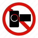 camera, forbidden, no, prohibited, record icon