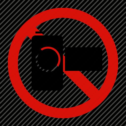 camera, forbidden, no, prohibited, record icon