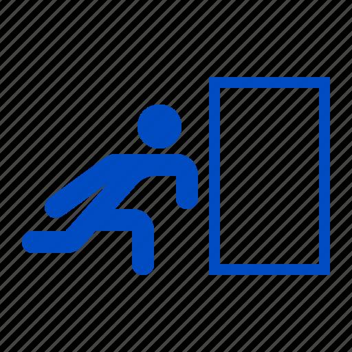 alert, danger, exit, sign, warning icon