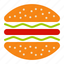 dinner, eat, food, hamburger, lunch, restaurant icon
