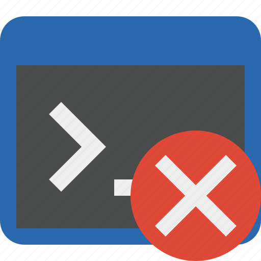 cancel, cmd, command, prompt, shell, terminal icon