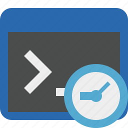 clock, cmd, command, prompt, shell, terminal icon