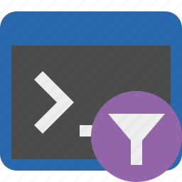 cmd, command, filter, prompt, shell, terminal icon
