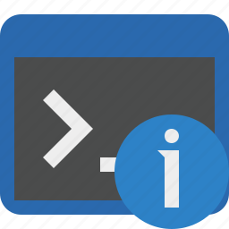 cmd, command, information, prompt, shell, terminal icon