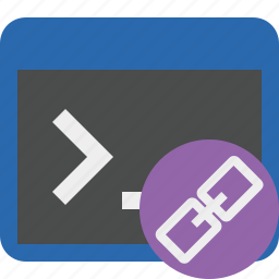 cmd, command, link, prompt, shell, terminal icon
