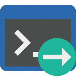 cmd, command, next, prompt, shell, terminal icon