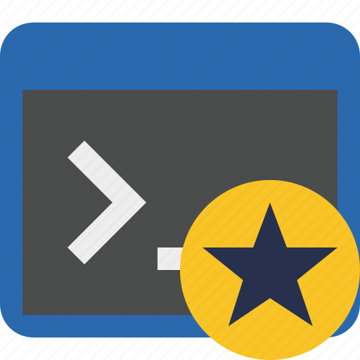 cmd, command, prompt, shell, star, terminal icon