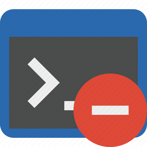 cmd, command, prompt, shell, stop, terminal icon