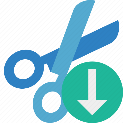 cut, download, scissors, tools icon