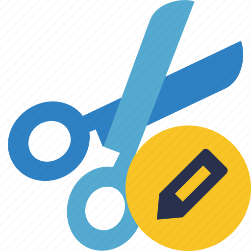 cut, edit, scissors, tools icon
