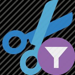 cut, filter, scissors, tools icon