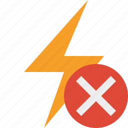 cancel, charge, energy, flash, power, thunder icon