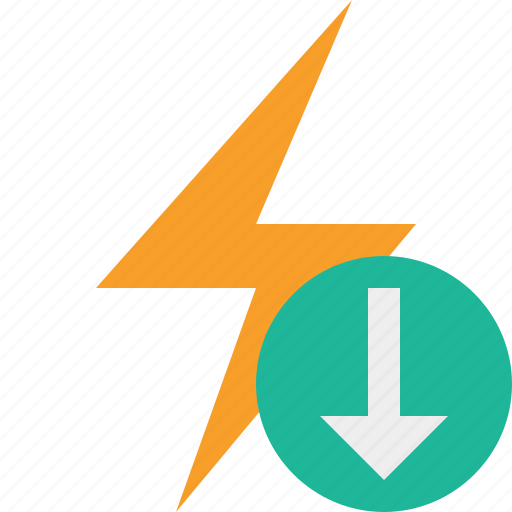 charge, download, energy, flash, power, thunder icon