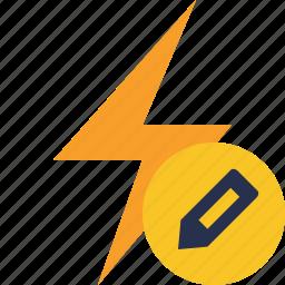 charge, edit, energy, flash, power, thunder icon
