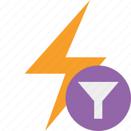 charge, energy, filter, flash, power, thunder icon