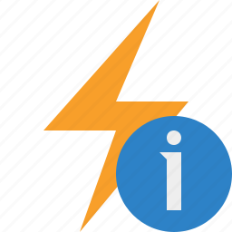 charge, energy, flash, information, power, thunder icon