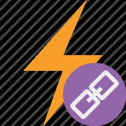 charge, energy, flash, link, power, thunder icon