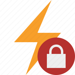 charge, energy, flash, lock, power, thunder icon