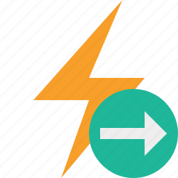 charge, energy, flash, next, power, thunder icon