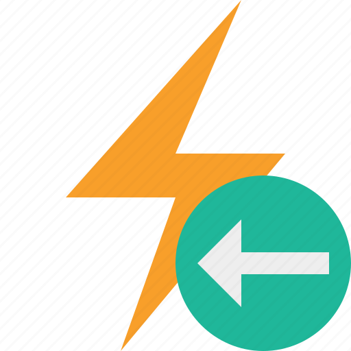 charge, energy, flash, power, previous, thunder icon
